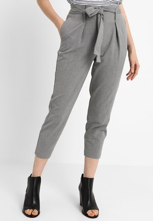 ONLNICOLE PANTS - Trousers - grey