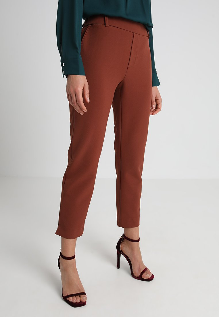 ONLY Petite - ONLGLOWING MID PANT  - Stoffhose - brown