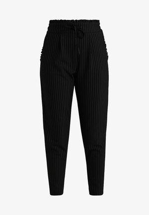 ONLPOPTRASH CLASSI PINSTRIPE FRILL - Pantaloni - black