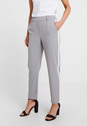 ONLCOOL ANKLE PANT - Kalhoty - light grey melange/white panel