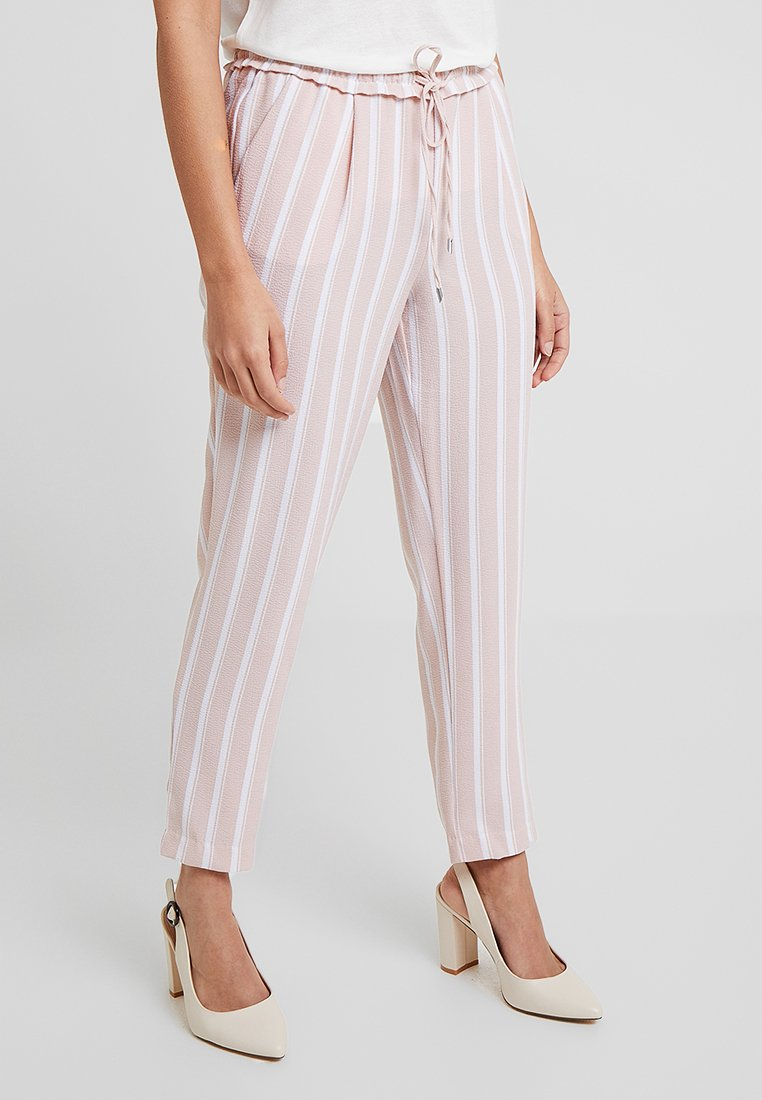 ONLY Petite - ONLPIPER PULL UP PANTS  - Stoffhose - rose dust/bright white