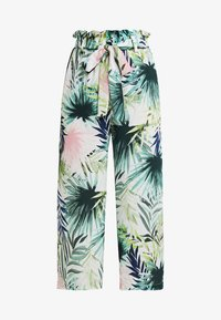 ONLY Petite - ONLTROPICAL PAPERBAG PANT  - Tygbyxor - cloud dancer - 3