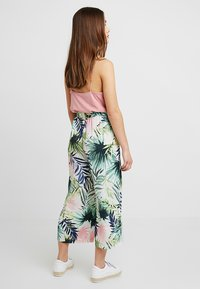 ONLY Petite - ONLTROPICAL PAPERBAG PANT  - Tygbyxor - cloud dancer - 2
