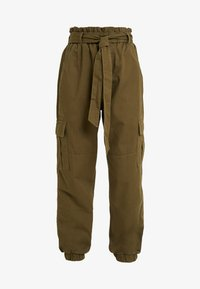 ONLY Petite - ONLMILES ANCLE CARGO PAPERBAG PANT - Trousers - beech - 4