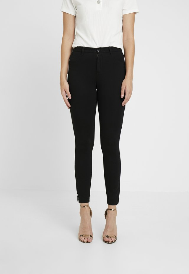 ONLEVIE  ANKLE  PIPING - Leggings - Trousers - black