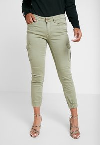ONLY Petite - ONLMISSOURI ANKLE CARGO PANT  - Trousers - oil green - 0