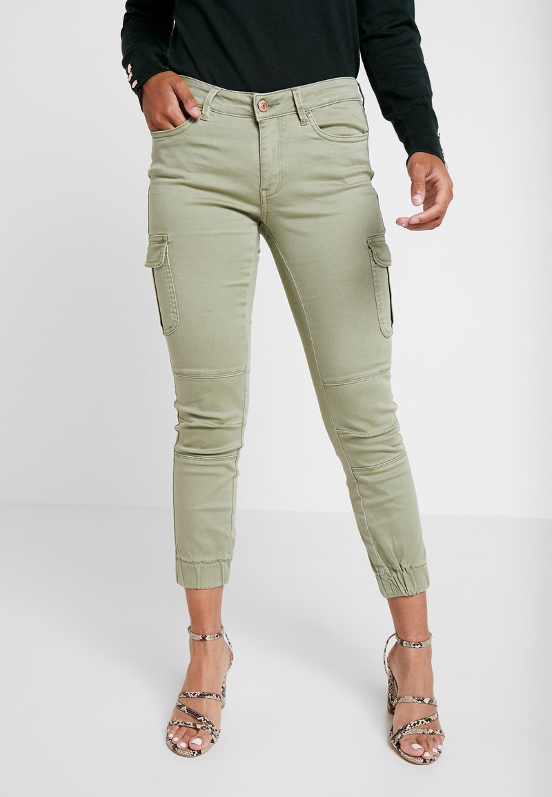 ONLY Petite - ONLMISSOURI ANKLE CARGO PANT  - Trousers - oil green