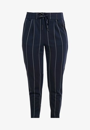 ONLPOPTRASH TEMPO STRIPE PANT - Pantalon classique - night sky
