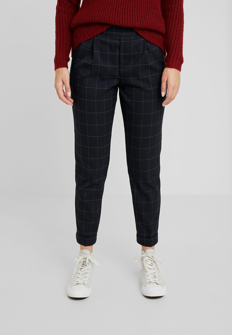 ONLY Petite - ONLABBIE CHECK PANT - Trousers - night sky