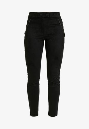 ONLTIA TUVA - Pantaloni - black