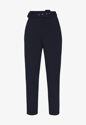 ONLTIKA FINI BELT PANT - Trousers - night sky