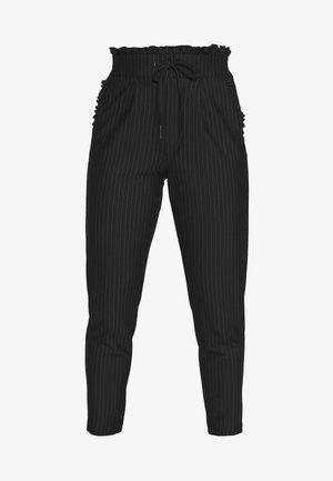 ONLPOPTRASH CLASSI PINSTRIPE FRILL - Pantalones - black