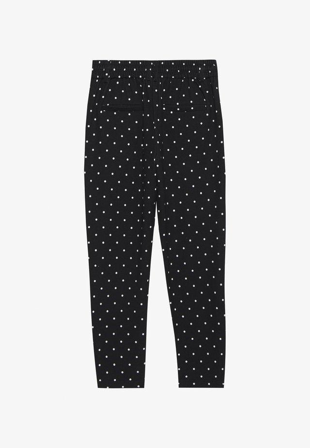 ONLPOPTRASH EASY DOT PANT - Spodnie materiałowe - black