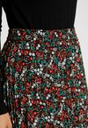 ONLY Petite - ONFLMISHA PLISSE SKIRT - A-Linien-Rock - black/neon summer ditsy