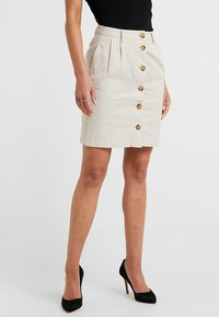 ONLY Petite - ONLLEONORA BUTTON SKIRT - Minifalda - creme - 0