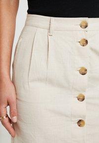 ONLY Petite - ONLLEONORA BUTTON SKIRT - Minifalda - creme - 4