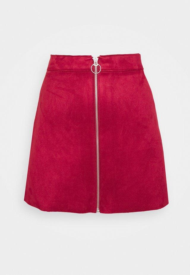 ONLEA BOND SKIRT - Spódnica trapezowa - rhubarb