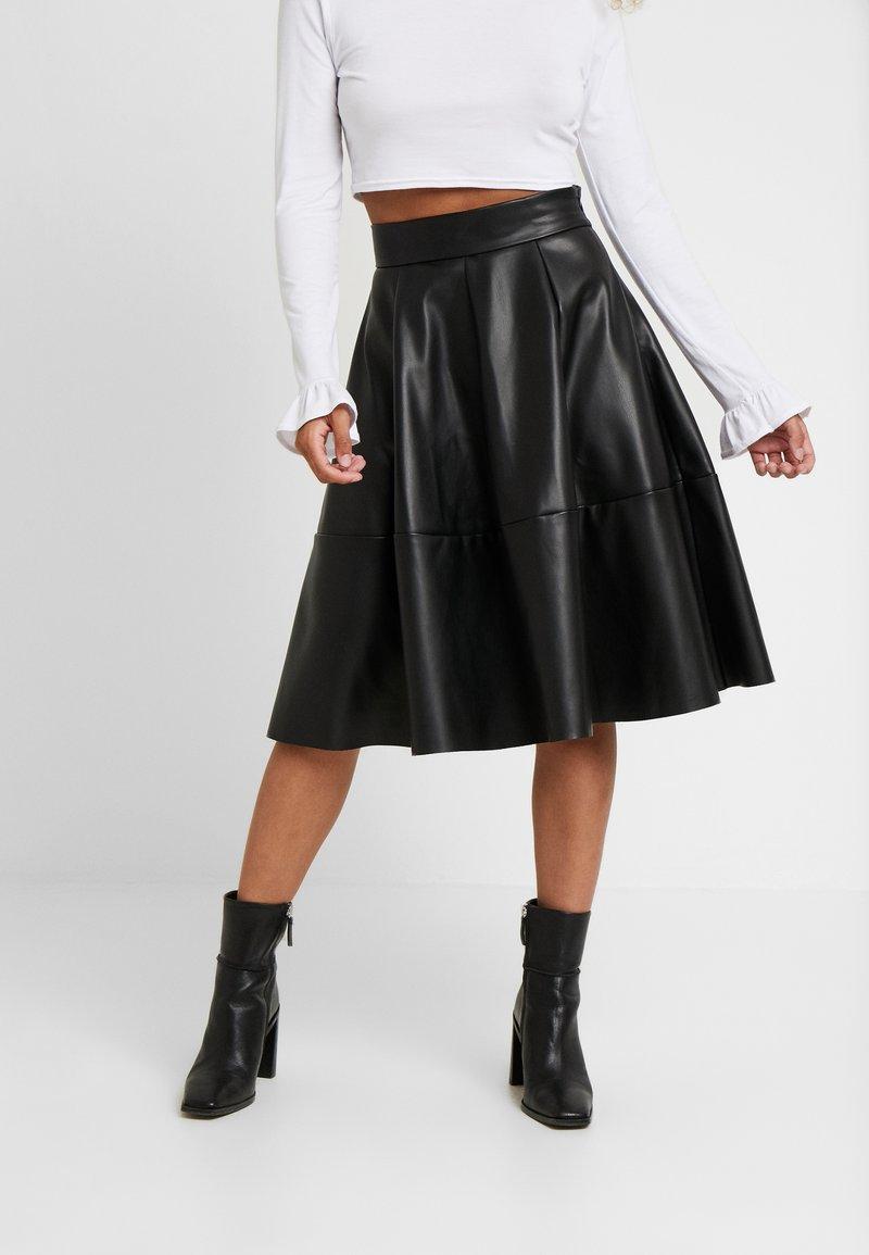 ONLY Petite - ONLSALLY SKIRT - A-linjekjol - black
