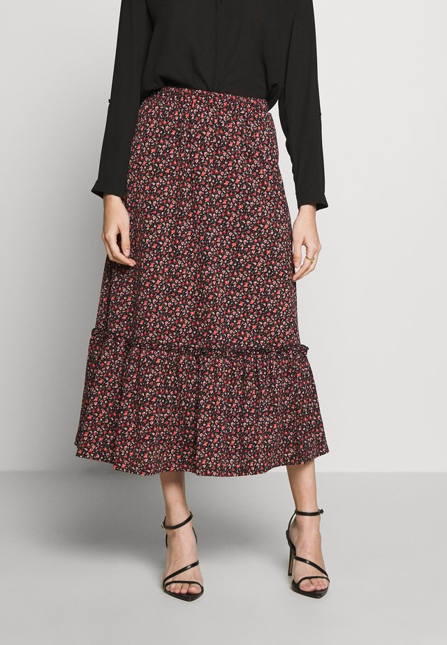 ONLPELLA SKIRT - Pleated skirt - black/route