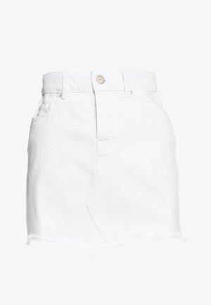ONLSKY SKIRT RAW EDGE  - Miniskjørt - white