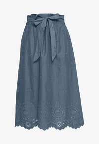 ONLY Petite - ONLSHERY LIFE MIDI EMBANG SKIRT - A-line skjørt - china blue - 4
