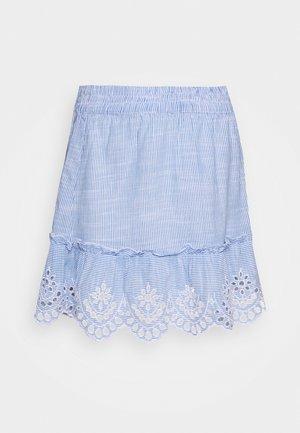 ONLLYDIA SHORT SKIRT PETITE  - Mini skirt - light blue/blue/white