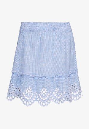 ONLLYDIA SHORT SKIRT PETITE  - Minikjol - light blue/blue/white
