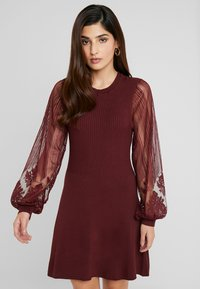 ONLY Petite - ONLLACEY DRESS - Jumper dress - tawny port - 0