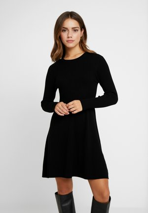 ONLALMA O-NECK DRESS - Strickkleid - black