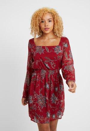 ONLFMICHELE SHORT DRESS - Day dress - merlot