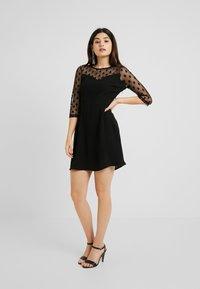 ONLY Petite - ONLVELMA INSERT DRESS - Vestito estivo - black - 2