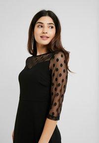 ONLY Petite - ONLVELMA INSERT DRESS - Vestito estivo - black - 4