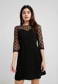 ONLY Petite - ONLVELMA INSERT DRESS - Vestito estivo - black - 0