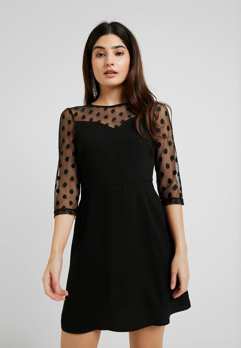 ONLY Petite - ONLVELMA INSERT DRESS - Vestito estivo - black