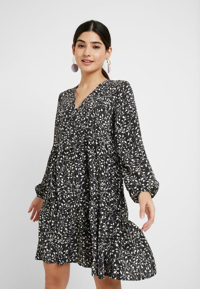 ONLMOLLY DETAIL SHORT DRESS - Korte jurk - black/mono