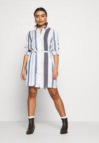 ONLY Petite - ONLANYA STRIPE DRESS - Blousejurk - cloud dancer/light blue/dark blue - 1