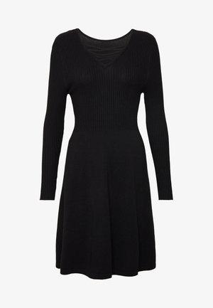 ONLSTRING DRESS - Vestido de punto - black