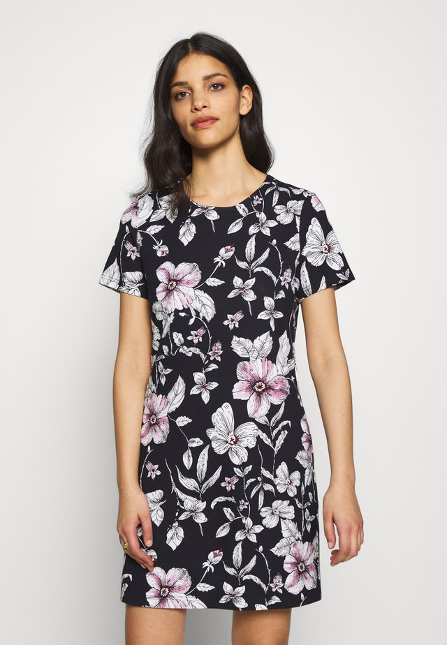ONLPOPTRASH PRINT DRESS - Jerseyjurk - night sky
