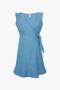ONLY Petite - ONLELODIE LIFE DRESS - Farkkumekko - light blue denim - 4