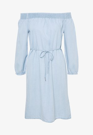 ONLTAMANTHA OFF SHOULD DRESS - Sukienka letnia - light blue denim