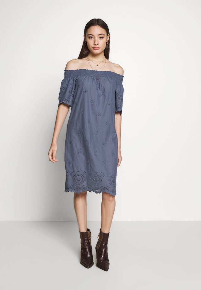 ONLNEW SHERY LIFE EMBANG OFFSHO - Day dress - china blue