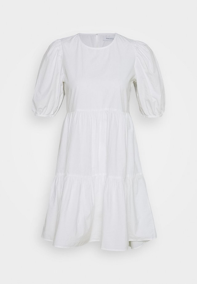 ONLKARLA PUFF SHORT DRESS - Vestido informal - white
