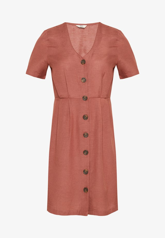 ONLVIVA LIFE BUTTON DRESS - Korte jurk - apple butter