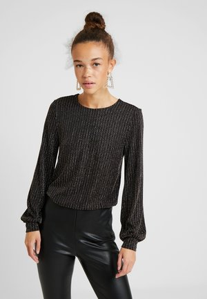 ONLCAROL GLITTER O NECK - Long sleeved top - black
