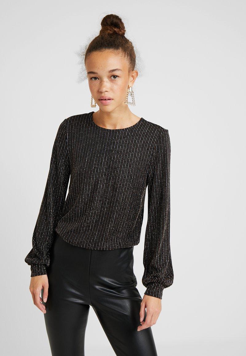 ONLY Petite - ONLCAROL GLITTER O NECK - Langærmede T-shirts - black