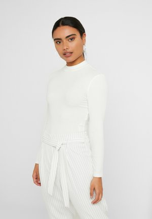 ONLNEON HIGH NECK - Topper langermet - cloud dancer