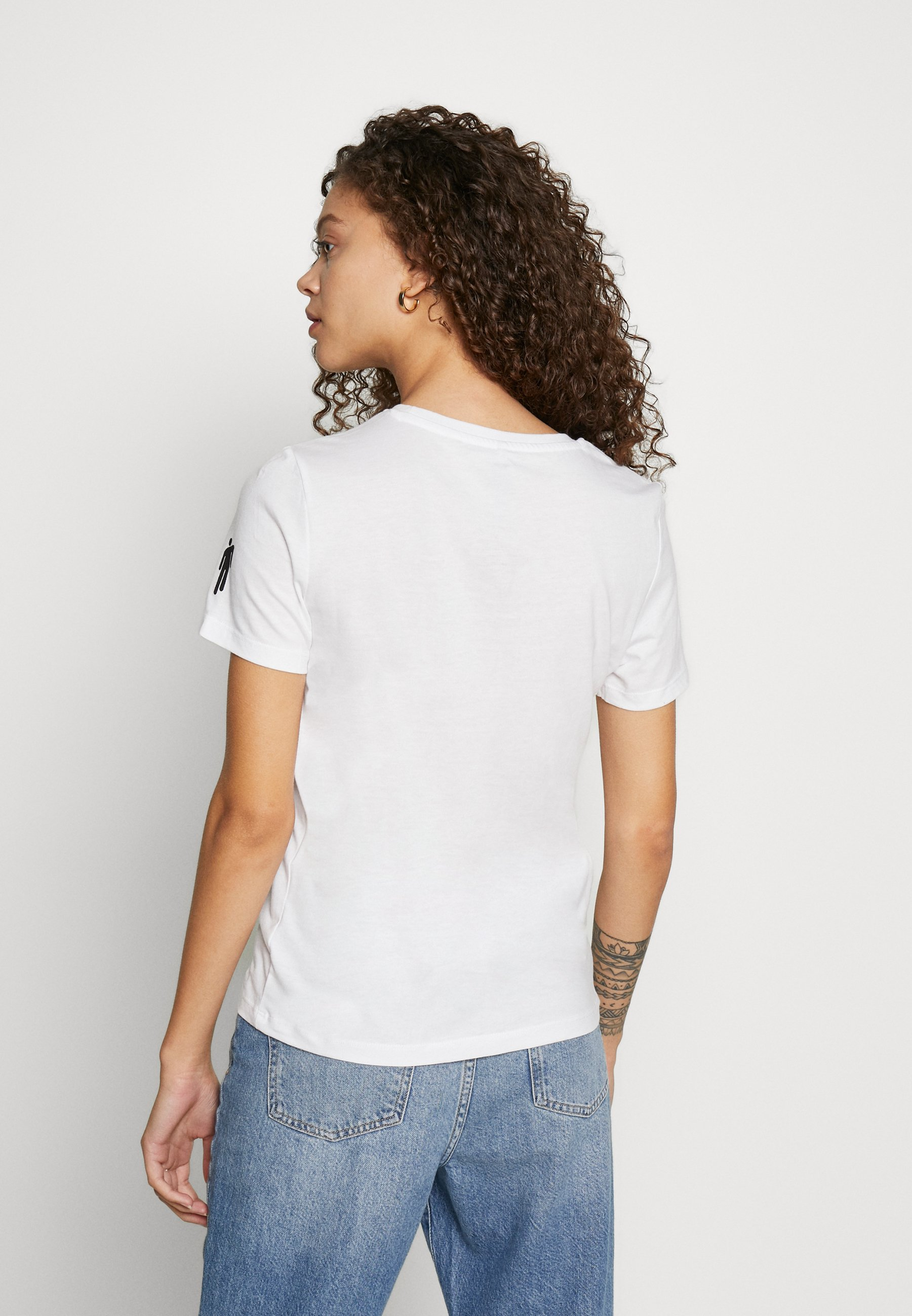 Only Petite Onlbillie - Print T-shirt Bright White