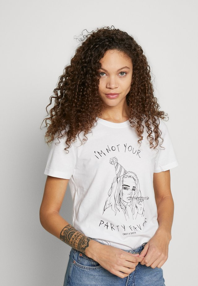 ONLBILLIE  - T-shirts print - bright white