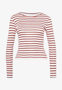 ONLY Petite - ONLRENI LIFE O-NECK - T-shirt à manches longues - cloud dancer/spicy orange