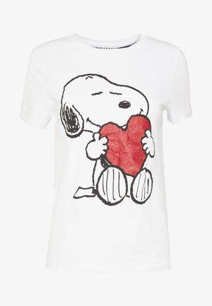 ONLPEANUT LOVE - Printtipaita - white